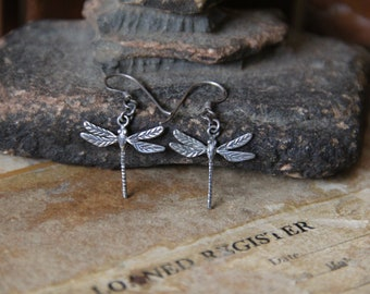 Vintage | Cutest | Tiny | Dragonfly |  Earrings|  925 | Sterling | Silver | 1.6 grams for the pair