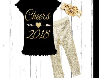 Girl's New Year's Outfit - Cheers 2018
