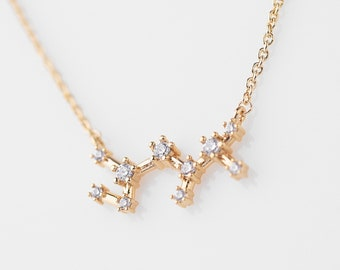 Zodiac Jewelry Celestial jewelry Constellation Necklace Gift for Women Astrology necklace Cancer zodiac necklace Taurus Gemini Pisces