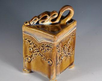 Handmade Pet Urn, Cremation Urn, Memory box, Container