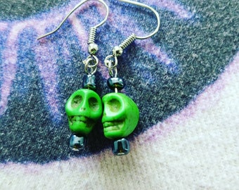 The Good Kind Of Voodoo - Dangle Skull Earrings