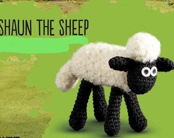 Shaun the sheep amigurumi/knitting ebook/amigurumi sheep/miniature crochet/knit stitch patterns/amigurumi patterns/knitted toy/baa/sheep