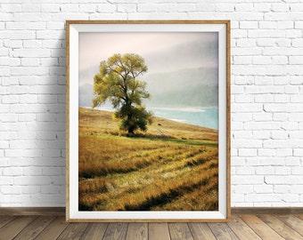 "landscape, landscape print, instant download printable art, photography, color, instant download, art print, wall art prints - ""Grassy Hill"""