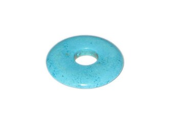 34mm Turquoise Donut Pendant