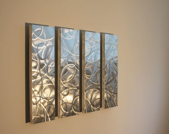 Metal Wall Art Sculpture abstract panel contemporary