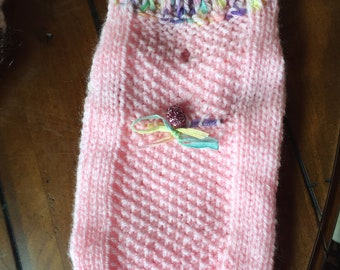 SMALL DOG SWEATER hand knit
