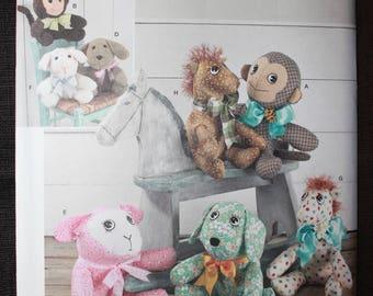 Simplicity 1603  Elaine Heigl Design  Two Pattern Piece Stuffed Animals