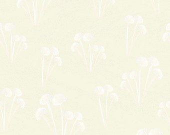A Time to Mend from In the Beginning Fabrics - Full or Half Yard Flower Cluster in Cream