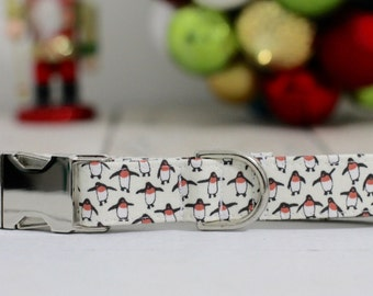 Penguin Dog Collar, Dog Collar, Girl dog collar, boy dog collar, Christmas dog collar, winter dog collar, dog collars, girl dog collars, dog