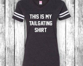 Dies ist mein nachlaufen Hemd | Spiel Tag Shirts, Heckklappe, lustige Fußball-t-Shirt, Superbowl, Touchdown, V-Ausschnitt Jersey Womens Shirt T-Shirt