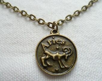 Aries necklace,zodiac jewelry,aries jewelry,zodiac necklace,personalised, birthday gift,horoscope star sign jewellery,handmade,aries pendant