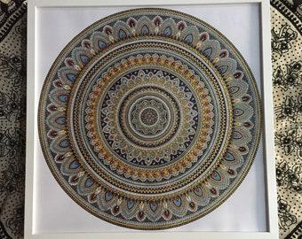 Mandala hand painted mandala