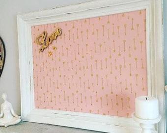 Pink Framed Magnet Board