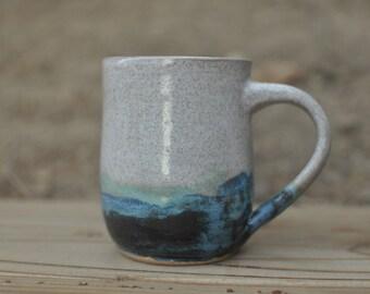 Oceanside Coffee Mug - Handmade Pottery Mug - Ceramic Mug - Coffee Mug - Tea Cup