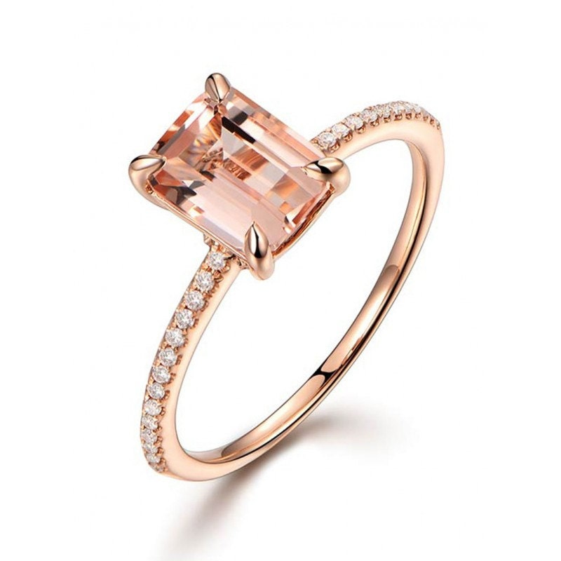 Limited Time Sale 1 25 Carat Peach Pink Morganite emerald