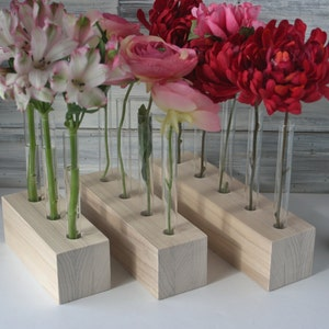 Charming DIY Test Tube Vase, Unfinished Wood, Flower Vase, Three Options, 3, Awesome Design