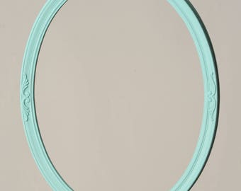 Round Light Blue Ornate Frame