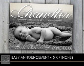 CUSTOM PHOTO CARD...5x7...birth announcement