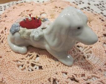 Vintage China Dog Pin Cushion