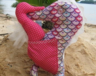 Stuffed Seahorse Stuffed Animal -  3 sizes to make - easy pdf sewing pattern - instant download