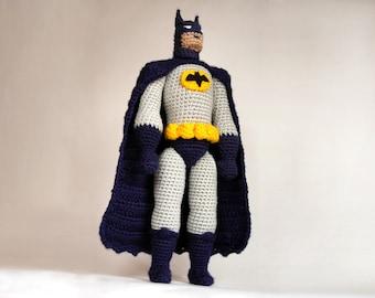 AMIGURUMI PATTERN for Batman, crochet pattern, Batman amigurumi pattern, Batman crochet pattern, Batman doll PDF tutorial, printable pattern