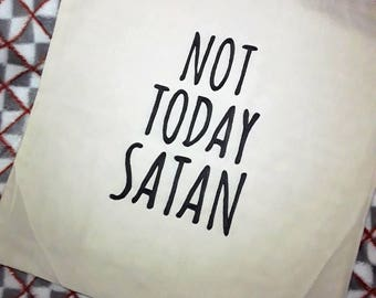 Not Today Satan Drag Race Themed Tote Bag