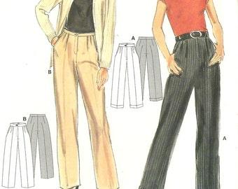 Burda sewing pattern - pleated straight-leg pants - Size 8-18