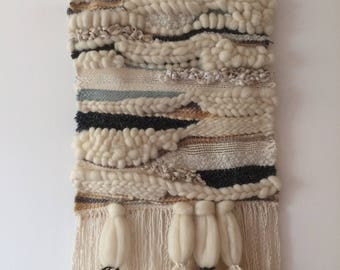 41 large woven wall hanging - OOAK - handmade by me.