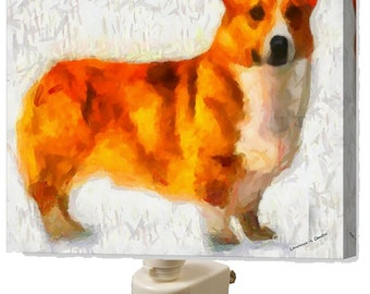 Pembroke Welsh Corgi Night Light From Doggylips