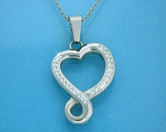 Eternal Love, an Infinity Heart Bold Necklace (S92 large)