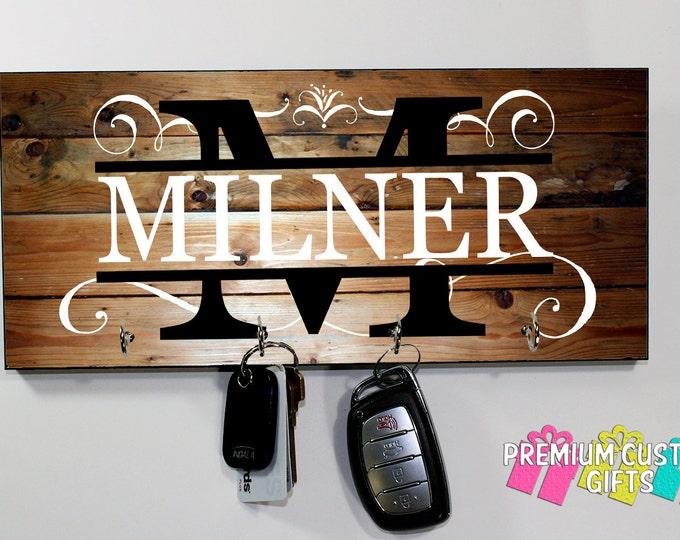 Personalized Key Holder - Wedding Gift - Anniversary Gift - Key Holder - Housewarming Gift - Personalized Gift - Wall Key Rack - Key Rack