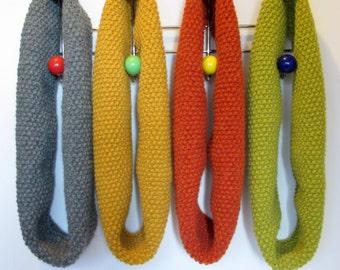 Capucha bufanda de Infinity en lana de Alpaca mostaza