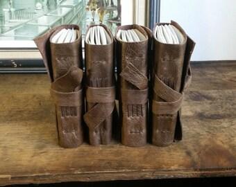 One Leather Journal, Pocket-Size, Dark Brown 3 x 4.5 Journals by The Orange Windmill 1651