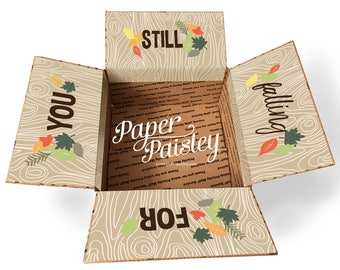 Care Package Sticker Kit - Still Falling for you/Thanksgiving Care Package/autumn/fall/love/military/deployment/missionary/box flaps