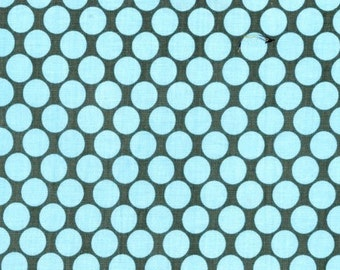 Amy Butler Fabric Full Moon Polka Dot in Slate - Half Yard