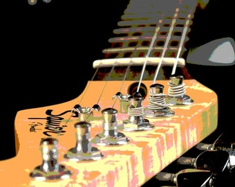 Guitar Birthday Card, Guitar Photograph, Guitar Pictures, Fine Art Photography, Digitally Enhanced, Guitar Teachers Gift,