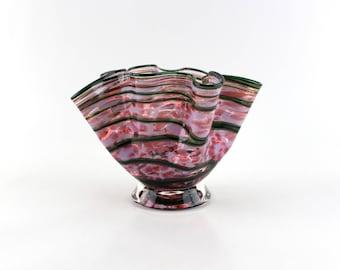 Pink Blown Glass Bowl