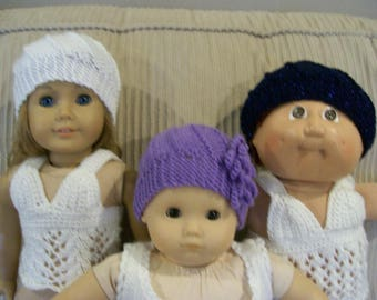 Swirl Hats for your Baby Dolls Knit Hand Made Dolls Doll Clothes Swirl Design ANY 15 or 18 Inch Dolls American Girl Cabbage Patch Journey