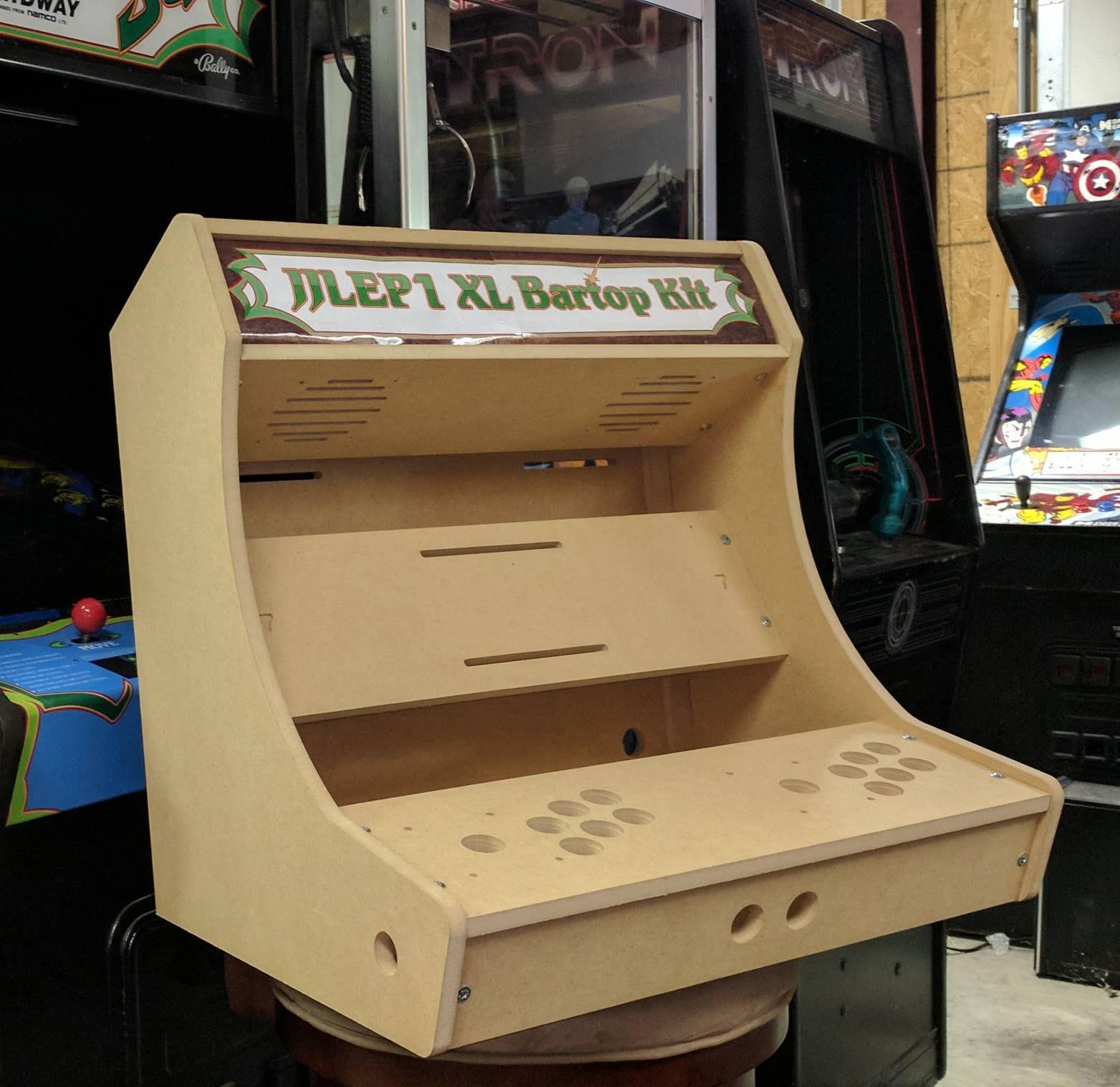 2 player xl bartop tabletop arcade cabinet diy kit w. Black Bedroom Furniture Sets. Home Design Ideas