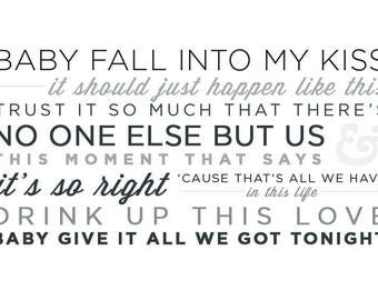 George Strait - Tonight Lyrics - Give it All We Got Tonight - Wedding Song - Print