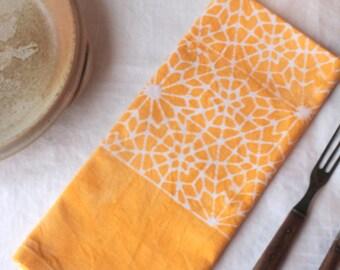 pale yellow penrose tile towel
