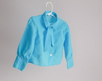 "Turquoise ""Office Girl"", Little Lady Blouse - Sz 25 Bust"