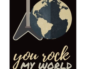 You Rock My World Greeting Card Flat Card