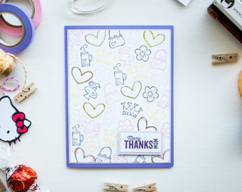 Cute Jolly Notes Mother's Day Handmade Card