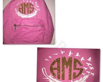 monogram bookbags custom backpacks