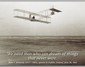 INSPIRATIONAL CARD - Historic Photograph - John F. Kennedy Quote for Graduation - Also available as a Print or Quote Block (CPIC2013044)