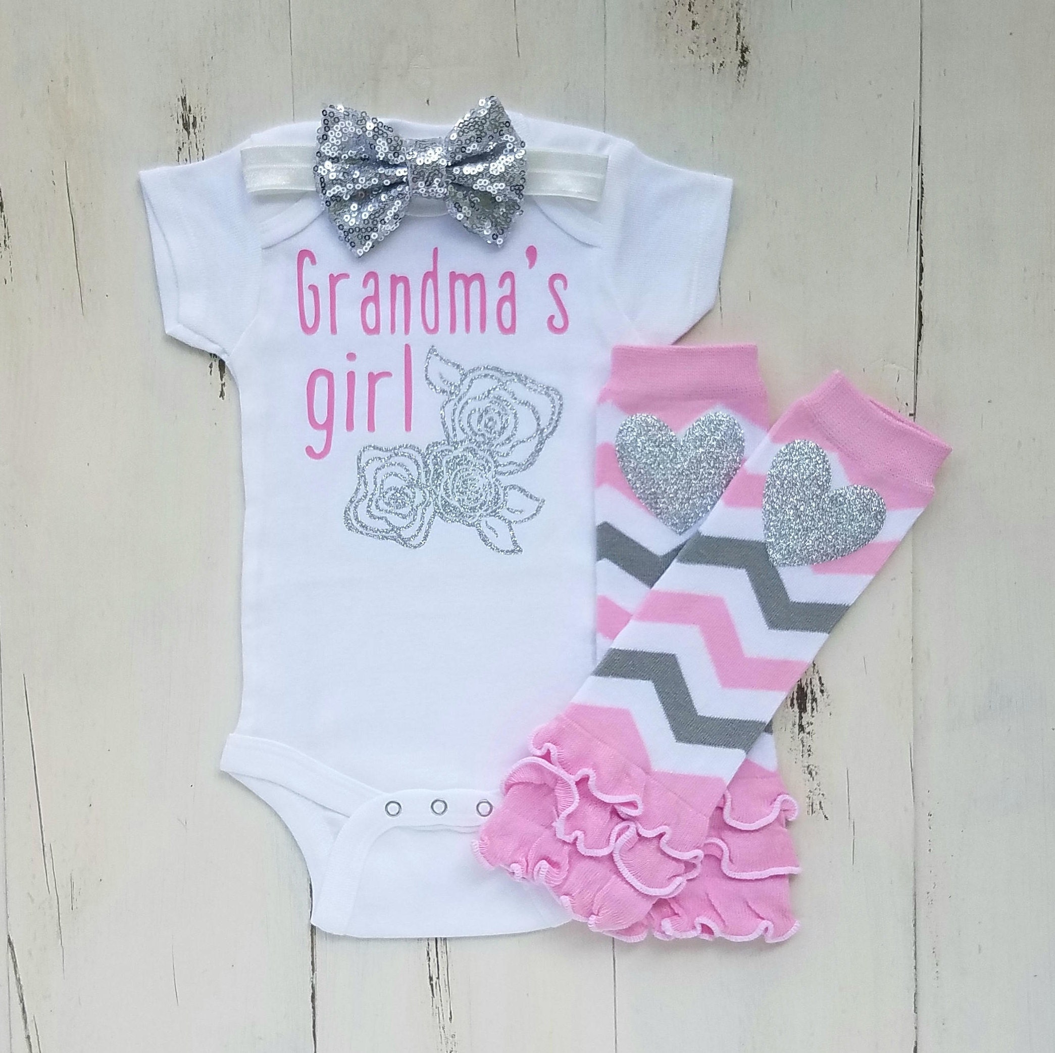 Grandma onesies Baby girl clothes Baby girl outfit Grandma