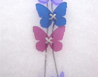 Winter butterfy necklace in purples