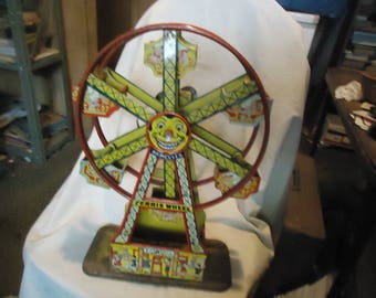 Vintage J Chein Hercules Ferris Wheel Wind Up Toy From Estate NOT WORKING, collectable