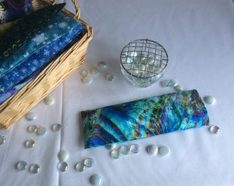 Meditation/Yoga Eye Pillow filled with flax seeds and lavender in washable pillow case.ij
